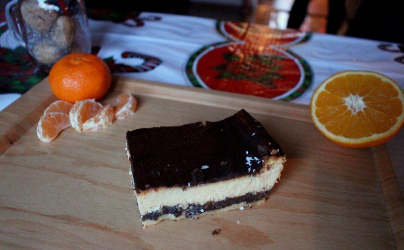 Sernik z makiem i polewą czekoladową